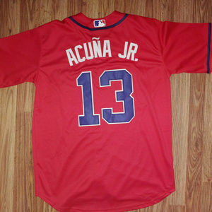 Ronald Acuna Jr. Atlanta Braves Red Jersey Small S